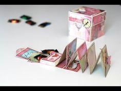 Una caja explosiva con muchos bolsillos y espacio para poner muchas fotos. Está realizada con la preciosa colección Royal Menagerie de Prima Marketing. https...
