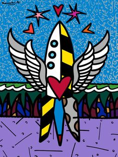Rocket ship - Britto