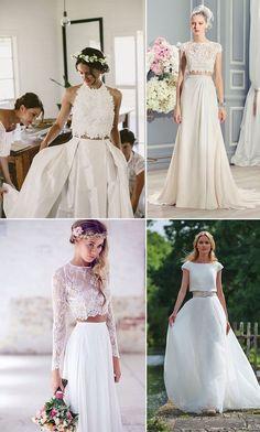 Vai casar em 2017? Já escolheu seu vestido de noiva? Veja as tendências para te ajudar! ;) http://comprandomeuape.com.br/2016/10/tendencia-vestidos-de-noiva-2017.html