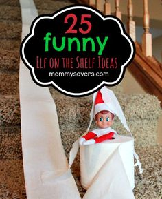These Funny Elf on the Shelf Ideas came from our very creative forum members.  They were originally posted in our Elf on the Shelf Ideas Photo Gallery.  Like these ideas?  Pin it HERE and then foll...