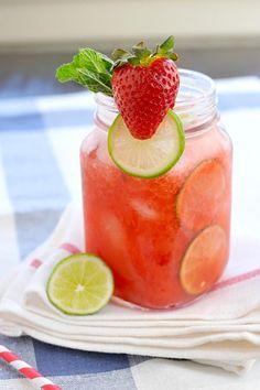 Strawberry-Lime (Coconut) Agua Fresca