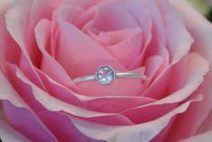 Crystal Band Ring Silver - HeidisHoff.no