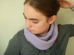 New: Infinity Scarf LILAC Purple Cashmere for Spring by WormeWoole