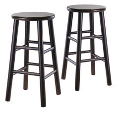 "Dark Espresso Set of 2, 24"" Bevel seat stool, Assembled"