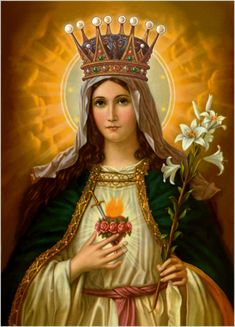 Mary Queen of Heaven and Queen of the Souls in Purgatory.