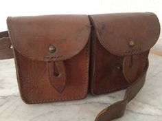 Vintage French leather waist bag.  xo--FleaingFrance