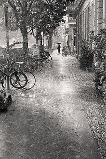 Sudden Rain by Rafael Dols #Photography #Rain #BW