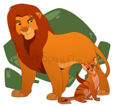 Simba and Firestar <3 The Lion King and Warrior Cats <3 <3