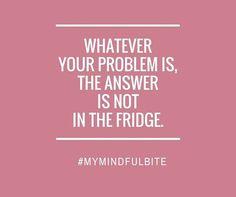"""La maggior parte dei disturbi alimentari (o anche più semplicemente l'obesità e il sovrappeso) non dipende dal cibo in sé ma da un BISOGNO PERSONALE DI CONFORTO che viene riempito da questo. Il primo passo per uscire dal circolo vizioso del """"Comfort Food"""" è quello di prendere consapevolezza delle tue azioni attraverso la presenza mentale. http://michelacicuttin.com/"""