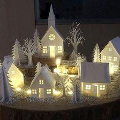 Christmas Village Houses, Christmas Village Display, Christmas Villages, Christmas 2019, All Things Christmas, White Christmas, Christmas Home, Christmas Holidays, Christmas Crafts