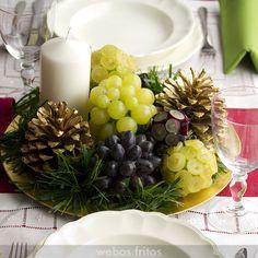 Centro de mesa para Nochevieja con uvas