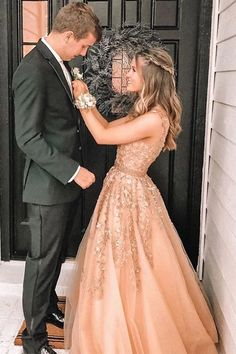 A-Line V-Neck Floor-Length Champagne Prom Dress with Appliques Beading, .A-Line V-Neck Floor-Length Champagne Prom Dress with Appliques Beading, Pretty Prom Dresses, Hoco Dresses, Tulle Prom Dress, Lace Evening Dresses, Cheap Prom Dresses, Prom Party Dresses, Elegant Dresses, Homecoming Dresses, Sexy Dresses