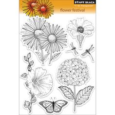 Penny Black 'Flower Festival' Clear Stamps - Overstock Shopping - Big Discounts on Penny Black Clear & Cling Stamps