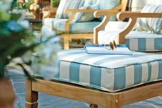 Aqua/Teal striped fabric :)