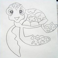How to Draw a Sea Turtle From Finding Nemo thumbnail