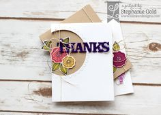 by Stephanie Gold for Lil Inker Designs Doodled Daisies word tags gem alphabet - Golden Simplicity