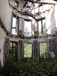 Haunted House. An old abandoned Art Nouveau mansion in Spain.