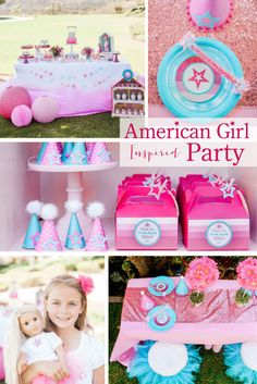 Today, I'm sharing my daughter's American Girl Party. This was a fun party for me to plan because when I was a little girl, American Girl had just come out and I was so excited when I opened mydoll for Christmas. (which I've now passed onto my daughter.) I remember really loving