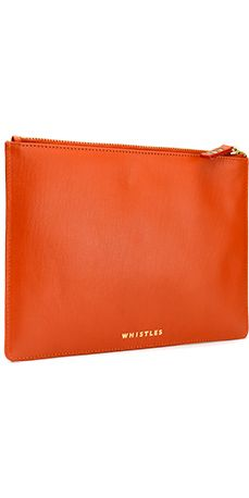 Simple, bright leather make up bag.