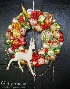 Christmas Tapestry Wreath ©Glittermoon Productions LLC 2016