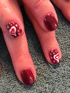 Get a heart on today! ❤️ Happy Valentines Day.  Nail art  Nails by Mindy  816-914-8987 Liberty, MO