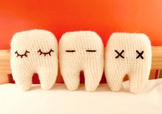 Crochet Amigurumi Tooth Pattern