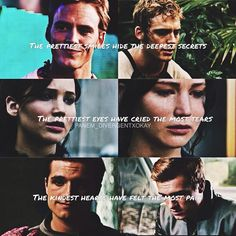This is perfect, cause each line is so true to the character is portrays Sad Movies, Movie Tv, Teen Movies, Watch Movies, Katniss And Peeta, Katniss Everdeen, Hunger Games Catching Fire, Hunger Games Trilogy, Hunger Games Exhibition