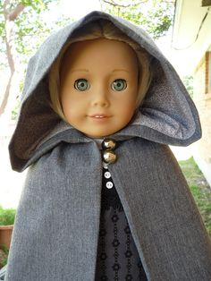 18 Doll Clothes Regency Style Gown  Winter Cape by Designed4Dolls, $29.95