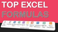 TOP EXCEL FORMULA & FUNCTION EXAMPLES TO GET BETTER AT MICROSOFT EXCEL   Learn Microsoft Excel Tips + Free Excel Tutorials & Cheat Sheets   The Most In-Depth Excel Video Courses Online at http://www.myexcelonline.com/138-23.html