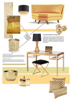 """""""Untitled #471"""" by lulubella1972 ❤ liked on Polyvore featuring interior, interiors, interior design, maison, home decor, interior decorating, York Wallcoverings, Joybird Furniture, Tom Dixon et Hotel Collection"""