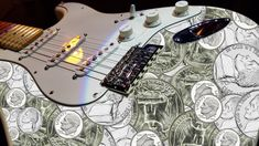 A pile of change, My Strat, my iPhone and two minutes with Photoshop. Pink Floyd Comfortably Numb, Female Guitarist, Music Instruments, Photoshop, Pure Products, Hands, Money, Iphone, Art