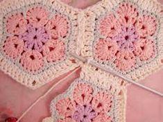 Crochet Hexagon African Flower Blanket – Free Pattern African Flower Hexagon Join-as-you-go Tutorial Grannies Crochet, Crochet Motifs, Crochet Squares, Love Crochet, Filet Crochet, Hexagon Crochet, Crochet Blocks, Granny Squares, Tunisian Crochet