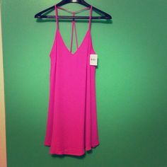 NWT! Lush strappy dress in bright orchid NWT! Lush strappy dress in bright orchid Lush Dresses