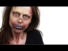 ▶ Halloween Zombie Face Paint Tutorial | Snazaroo - YouTube #Halloween #Snazaroo #AshleaHenson