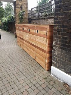 Bespoke Cedar Clad Wheelie We only use the Best Stainless Steel Fittings and nails These can be made to customers sizes and specification.Different Roof types wooden,sedum,cedar shingle,slate Please message us for a taylored Quote