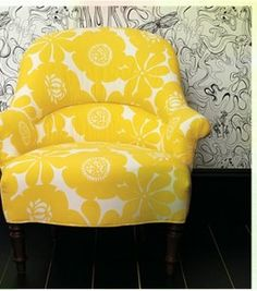 perfect yellow chair