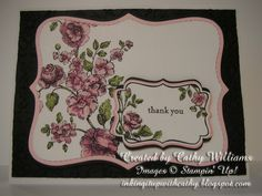 Inking It Up With Cathy: Stampin' Up!'s Elements of Style &  Four Frames...