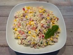 Sałatka hawajska z szynką i ananasem - Blog z apetytem Fried Rice, Pasta Salad, Fries, Salads, Vegetables, Cooking, Ethnic Recipes, Blog, Easter 2018