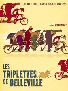 Les Triplettes de Belleville (2003) Sylvain Chomet. Saw this long ago and was was caught by it.The atmosphere of adventure comics in the old comic magazine.                                                                                                                                                                                 More