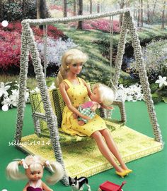 """""""Swing"""" Plastic Canvas Pattern Only Fits Barbie Fashion Doll 