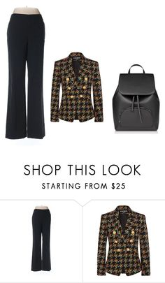 """""""Triangle Fiqure"""" by viviansternberg ❤ liked on Polyvore featuring Banana Republic and Balmain"""