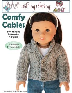 Comfy Cables pattern by Doll Tag Clothing from PixieFaire