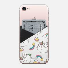 Casetify iPhone 7 Saffiano Leather Phone Wallet - Unicorn by Mint Corner