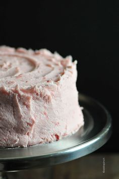 Strawberry Buttercream Frosting Recipe: this is an absolutely incredible buttercream!! The strawberry syrup makes for truly authentic flavor....fresh and full. One of the best buttercreams I've made. Perfect for summer! It was a hit at the party with everyone wanting the recipe. I will definitely make this again!!
