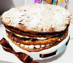 Tento dort jsem objevila na brněnském Foodparku, ale pod názvem povidlový dort. Už z dálky mě upoutala veliká cedule s obrázkem tohoto dortu. Vypadal tak lákavě, že nebylo možné ho neochutnat. Povidlí mám v menších dávkách ráda, ale tady jsem se obávala, jestli nebude toho povidlí až moc. Na tu chuť jsem byla hodně zvědavá a neměla jsem představu... Pancakes, Sandwiches, Breakfast, Morning Coffee, Pancake, Paninis, Crepes