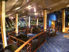 Viking Crown Lounge (Deck 11): You'll find some of the nicest views in the Viking Crown Lounge, which features loads of floor-to-ceiling windows. During the day it's pretty quiet with people reading or small groups playing cards, but starting late -- around 11 p.m. -- the space heats up with DJ'd music and lots of dancing. If you like a dance club vibe, Viking Crown is the place to be. Aruba Cruise, Enchantment Of The Seas, Celebrity Summit, Southern Caribbean Cruise, Freedom Of The Seas, Harbor Town, Bridgetown, Island Tour, Shore Excursions