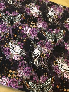 This%20listing%20is%20for%20a%20preorder%20that%20will%20arrive%20approx%208-10%20weeks%20after%20close%20of%20round.%20Fabric%20will%20be%20printed%20on%20cotton/lycra%20(95%%20cotton/5%%20lycra),%20230-250%20gsm%20fabric.%20One%20yard%20length%20and%2060 Geek Stuff, Skull, Fabric, Prints, Cotton, Painting, Art, Geek Things, Tejido