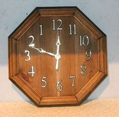 66  BACKWARDS RUNNING CLOCK by AlansWoodCrafts on Etsy, $40.00