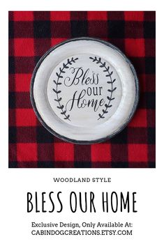 Woodland Style Bless Our Home Decorative Wood Plate #woodplate #decorativeplate #woodlanddecor #cabinstyle #cabinliving #cabindecor #woodland #blessourhome #homeplate #homesign #homeblessing Farmhouse Interior, Farmhouse Style, Farmhouse Decor, Farmhouse Signs, Cottage Style, Boho Chic, Love Wood Sign, Shabby Chic Kitchen Decor, Distressed Walls