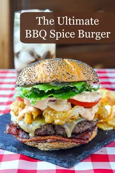 Barbecue Spice Burgers - start with a simple mix of salt and spices to perfectly…